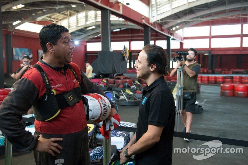 Felipe Massa e Márcio Santos