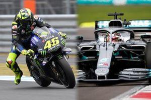Scambio di veicoli tra Valentino Rossi e Lewis Hamilton