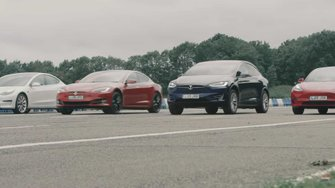 check-this-massive-tesla-drag-race-with-model-s-model-x-and-model-3