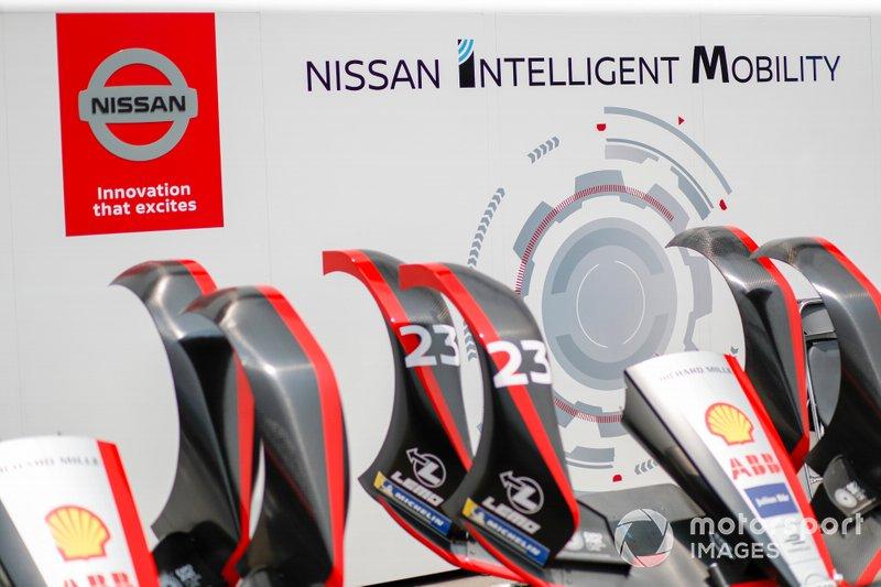 Musetti della Nissan e.Dams, Nissan IMO2 di Sébastien Buemi