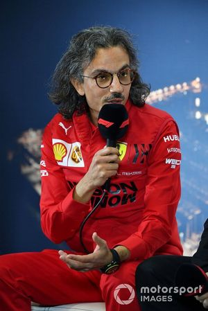 Laurent Mekies, Sporting Director, Ferrari in the press conference