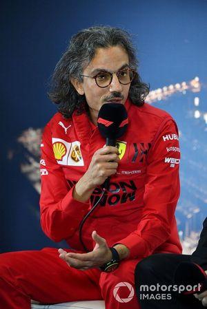 Laurent Mekies, directeur sportif Ferrari lors de la conférence de presse