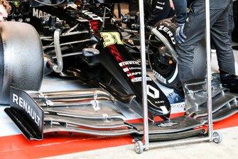 Esteban Ocon, Renault F1 Team R.S.20, dettaglio dell'ala anteriore