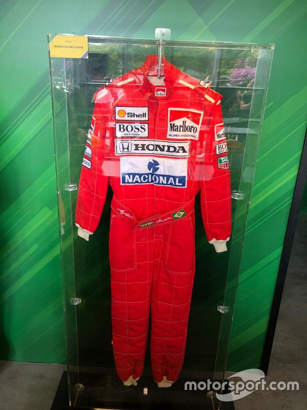 Macacão de Ayrton no Festival Senna Tribute