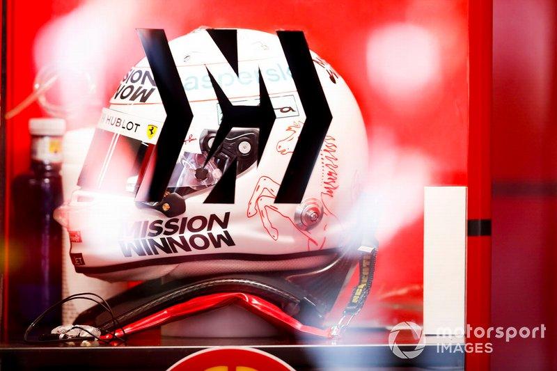 Le casque de Sebastien Vettel, Ferrari