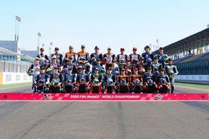 Gruppenfoto: Alle Piloten für die Moto2-WM 2020