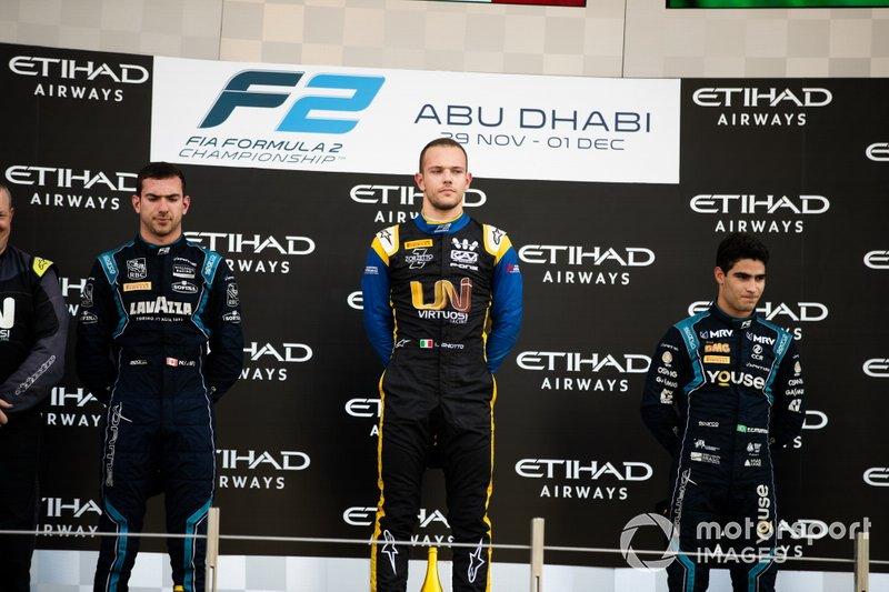 Luca Ghiotto, UNI Virtuosi Racing Nicholas Latifi, Dams and Sergio Sette Camara, Dams