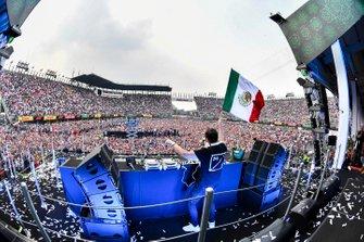 Dj Tiesto on the podium