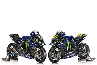 Motoren van Maverick Vinales, Valentino Rossi, Yamaha Factory Racing