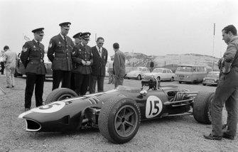 Dan Gurney, Eagle T1G Weslake nel paddock, al GP d'Olanda del 1967
