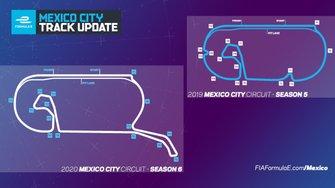 Nuevo trazado del la pista para el ePrix de México