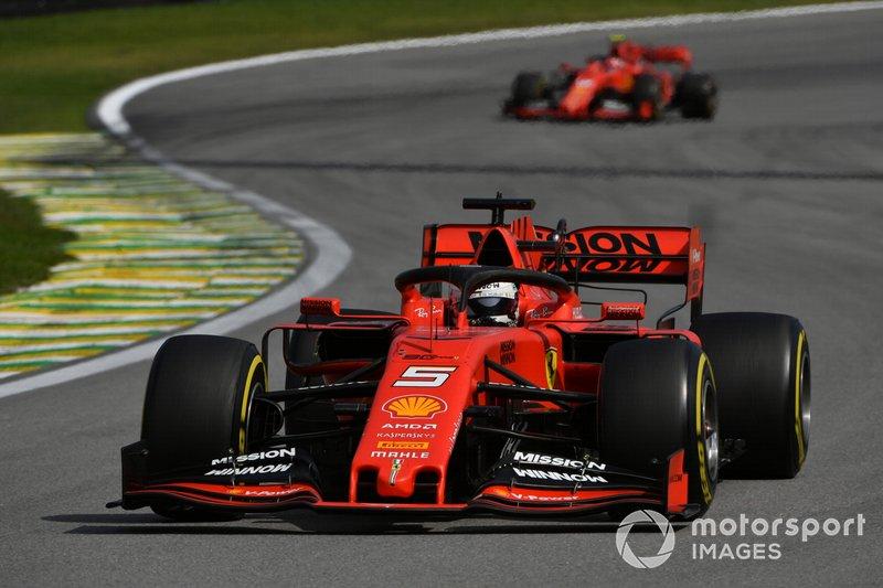 Sebastian Vettel y Charles Leclerc en Brasil 2019