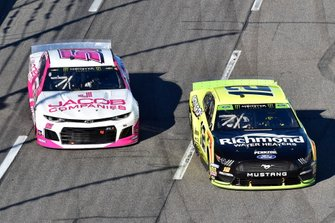 Ryan Blaney, Team Penske, Ford Mustang Menards/Richmond, B.J. McLeod, Petty Ware Racing, Ford Mustang JACOB COMPANIES