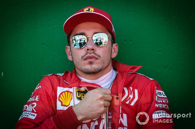 Charles Leclerc, Ferrari, on the grid