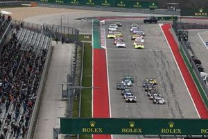 Start van de Lone Star Le Mans race