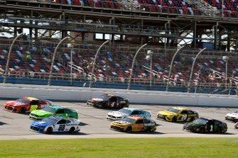 Alex Bowman, Hendrick Motorsports, Chevrolet Camaro Nationwide and Daniel Hemric, Richard Childress Racing, Chevrolet Camaro Caterpillar