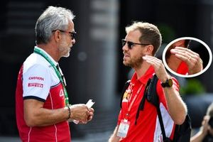 Sebastian Vettel, Ferrari with a wedding ring