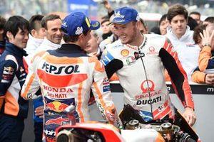 Race winner Marc Marquez, Repsol Honda Team, Jack Miller, Pramac Racing