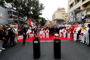 Winners trophy and Tribute Helmet of Niki Lauda