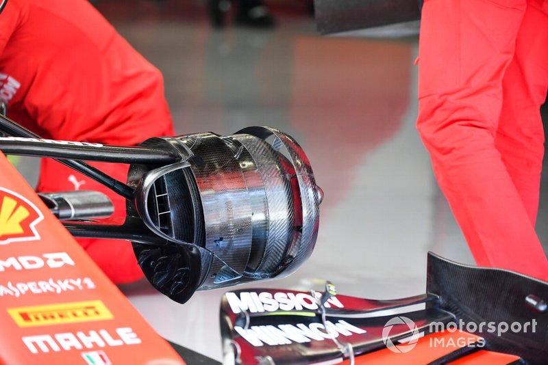 Detalhe do sistema de freios da Ferrari