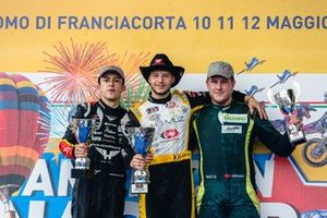 Podium Elite 2: Race winner Florian Venturi with Andre Castro and Lasse Sorensen
