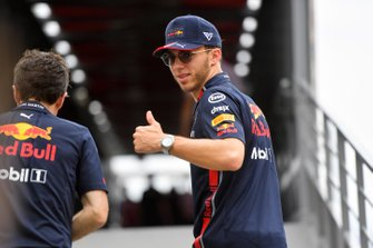 Pierre Gasly, Red Bull Racing sticks his thumb up