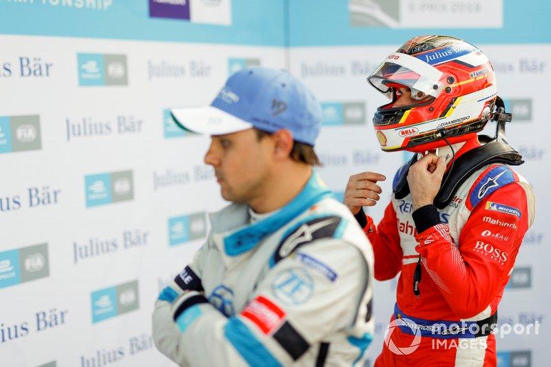 Jérôme d'Ambrosio, Mahindra Racing, with Felipe Massa, Venturi Formula E