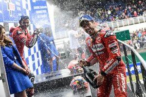 2. Andrea Dovizioso, Ducati Team, 3. Danilo Petrucci, Ducati Team