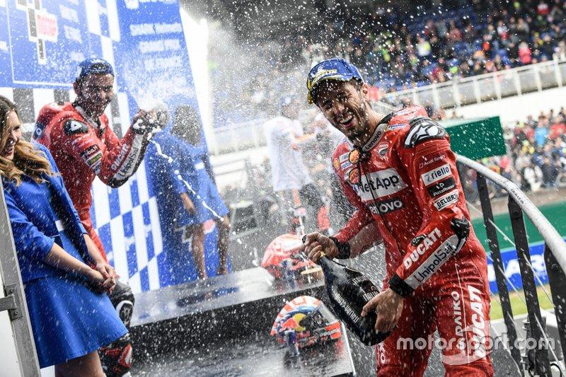 Podio: Andrea Dovizioso, Ducati Team, Danilo Petrucci, Ducati Team