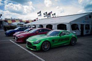 IMSA hot lap cars, Konica Minolta Business center