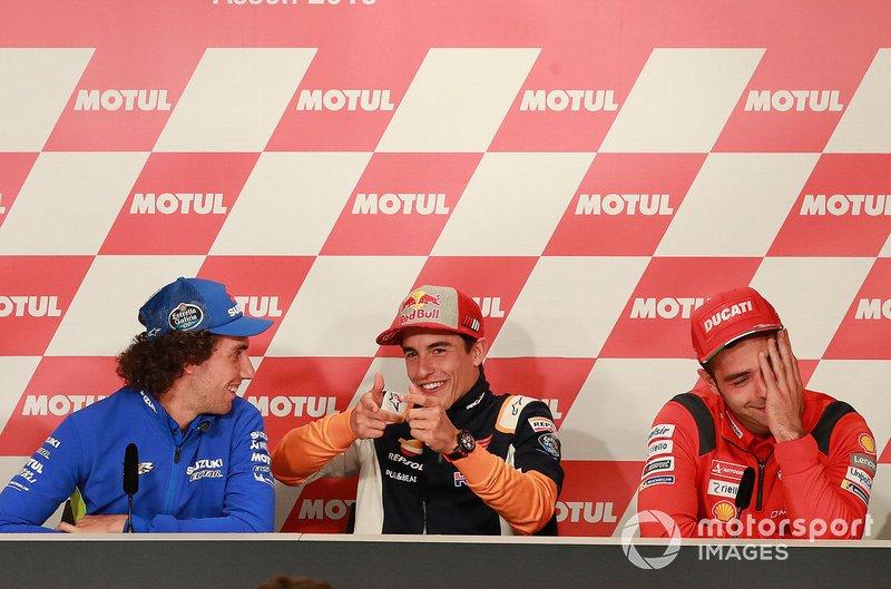 Alex Rins, Team Suzuki MotoGP, Marc Marquez, Repsol Honda Team, Danilo Petrucci, Ducati Team