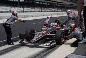 Will Power, Team Penske Chevrolet, s'entraîne aux arrêts au stand