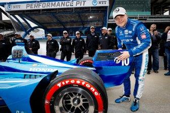 Pole Award Winner Felix Rosenqvist, Chip Ganassi Racing Honda
