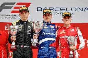 Podium: race winner Robert Shwartzman, PREMA Racing, second place Christian Lundgaard, ART Grand Prix, third place Marcus Armstrong, PREMA Racing