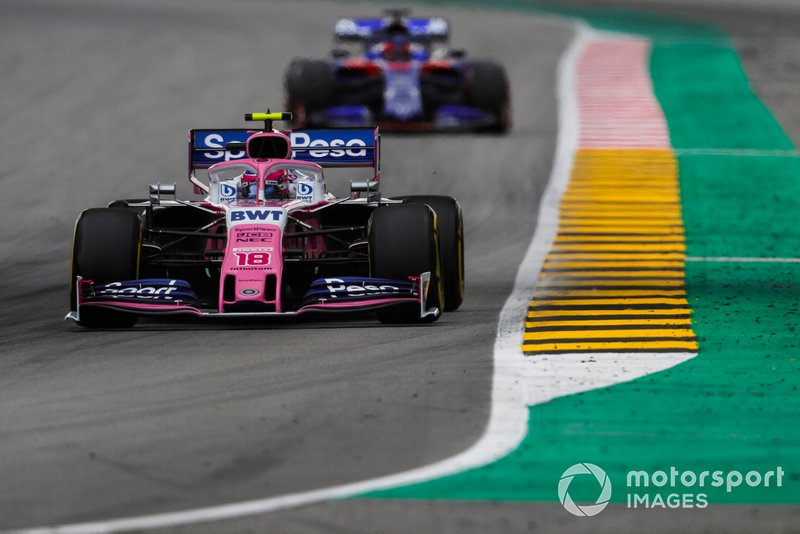 Lance Stroll, Racing Point RP19, Daniil Kvyat, Toro Rosso STR14