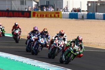 Leon Haslam, Kawasaki Racing, Tom Sykes, BMW Motorrad WorldSBK Team