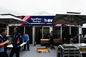 The Racing Point hospitality area
