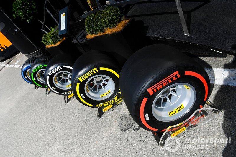 Pirelli tyres outside Prellii motorhome