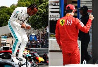Льюис Хэмилтон, Mercedes AMG F1, и Шарль Леклер, Ferrari: герой и антигерой квалификации