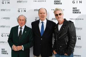 Jackie Stewart, Albert II, Prince of Monaco and Eddie Irvine at the Amber Lounge Fashion Show