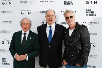 Jackie Stewart, Albert II, Prince of Monaco and Eddie Irvine at the Amber Lounge Fashion Show