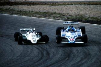 Carlos Reutemann, Williams FW07C, Jacques Laffite, Ligier JS17