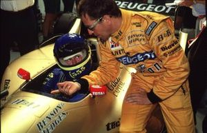 Colin McRae tests the Jordan GP car