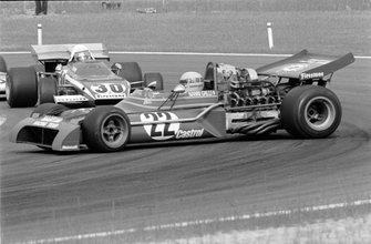 Clay Regazzoni, Ferrari 312B2 hace un trompo, Nanni Galli, Tecno PA123