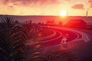 Coucher de soleil sur la piste