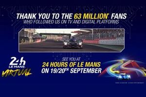 24 Hours Le Mans virtual, thank you