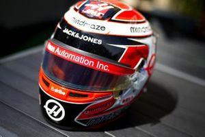 Helmet of Kevin Magnussen, Haas F1