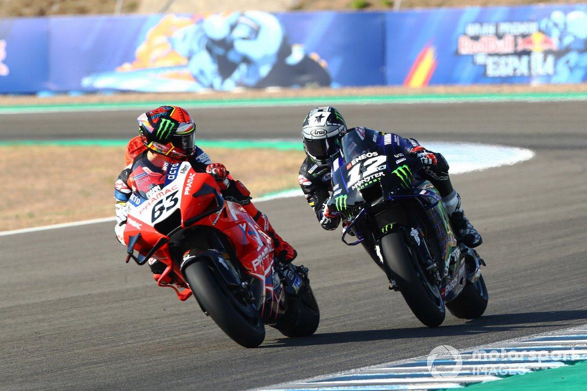 Pecco Bagnaia, Maverick Vinales, Yamaha Factory Racing