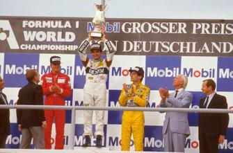 Nelson Piquet, Williams, Stefan Johansson, McLaren, Ayrton Senna, Lotus