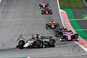 Christian Lundgaard, ART Grand Prix, leads Giuliano Alesi, BWT HWA Racelab, and Roy Nissany, Trident